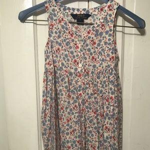 Girls 5 Floral Ralph Lauren Dress EUC